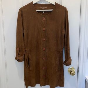 Sud Express Brown Suede Dress Size 38
